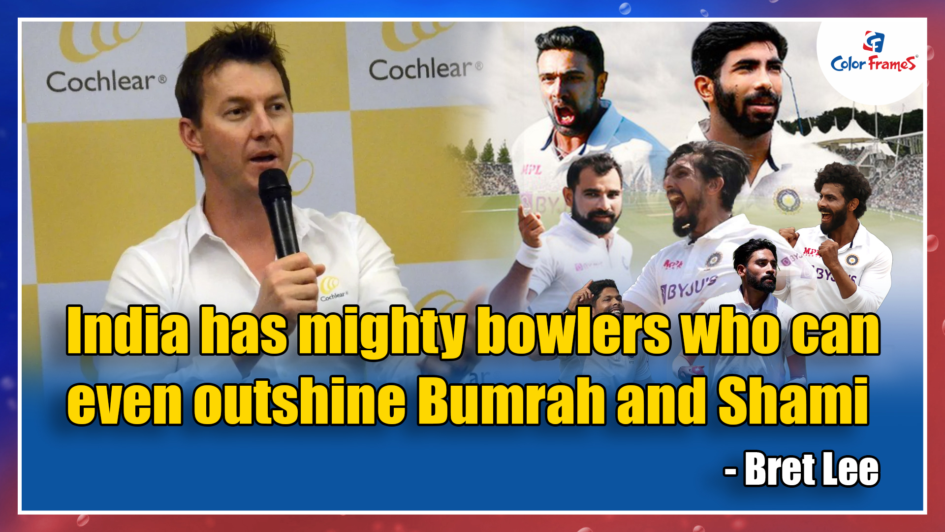 India has mighty bowlers who can even outshine Bumrah and Shami - Bret Lee