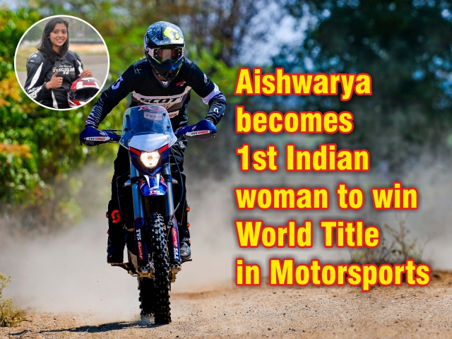 Aishwarya becomes 1st Indian woman to win World Title in Motorsports