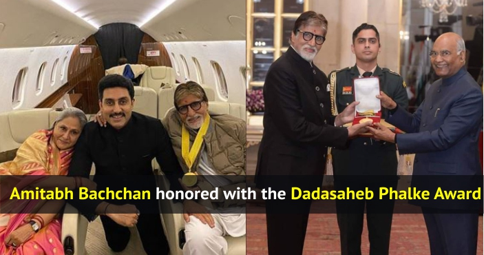 Amitabh Bachchan honoured with the Dadasaheb Phalke Award