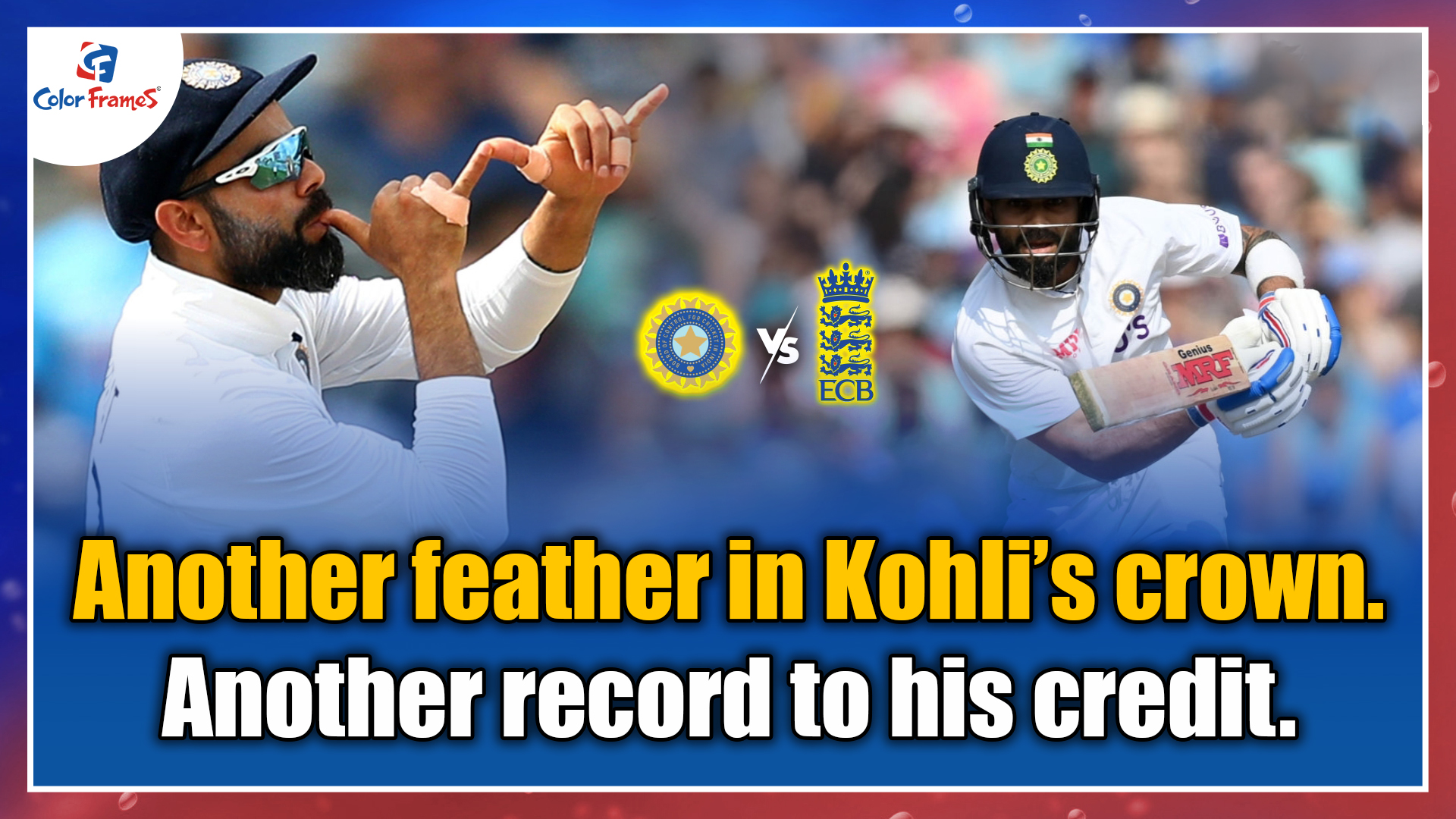 Another feather in Kohli's crown. Another record to his credit.