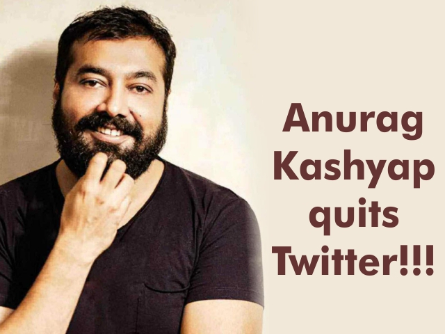 Anurag Kashyap quits Twitter!!!