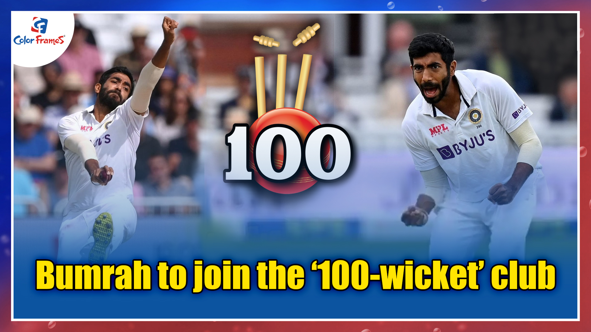 Bumrah to join the '100-wicket' club