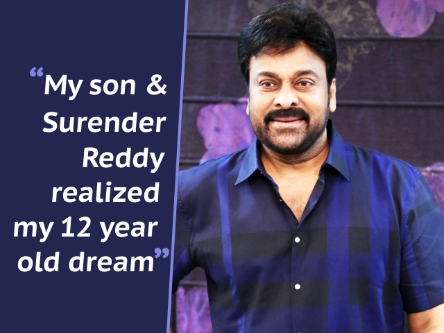 """My son and Surender Reddy realized my 12 year old dream"": Chiranjeevi"