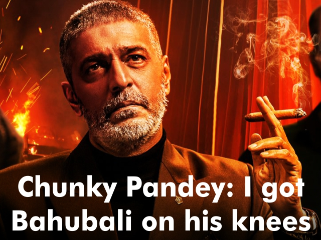 "Chunky Pandey said, ""Wow, I got Baahubali star Prabhas on his knees"""