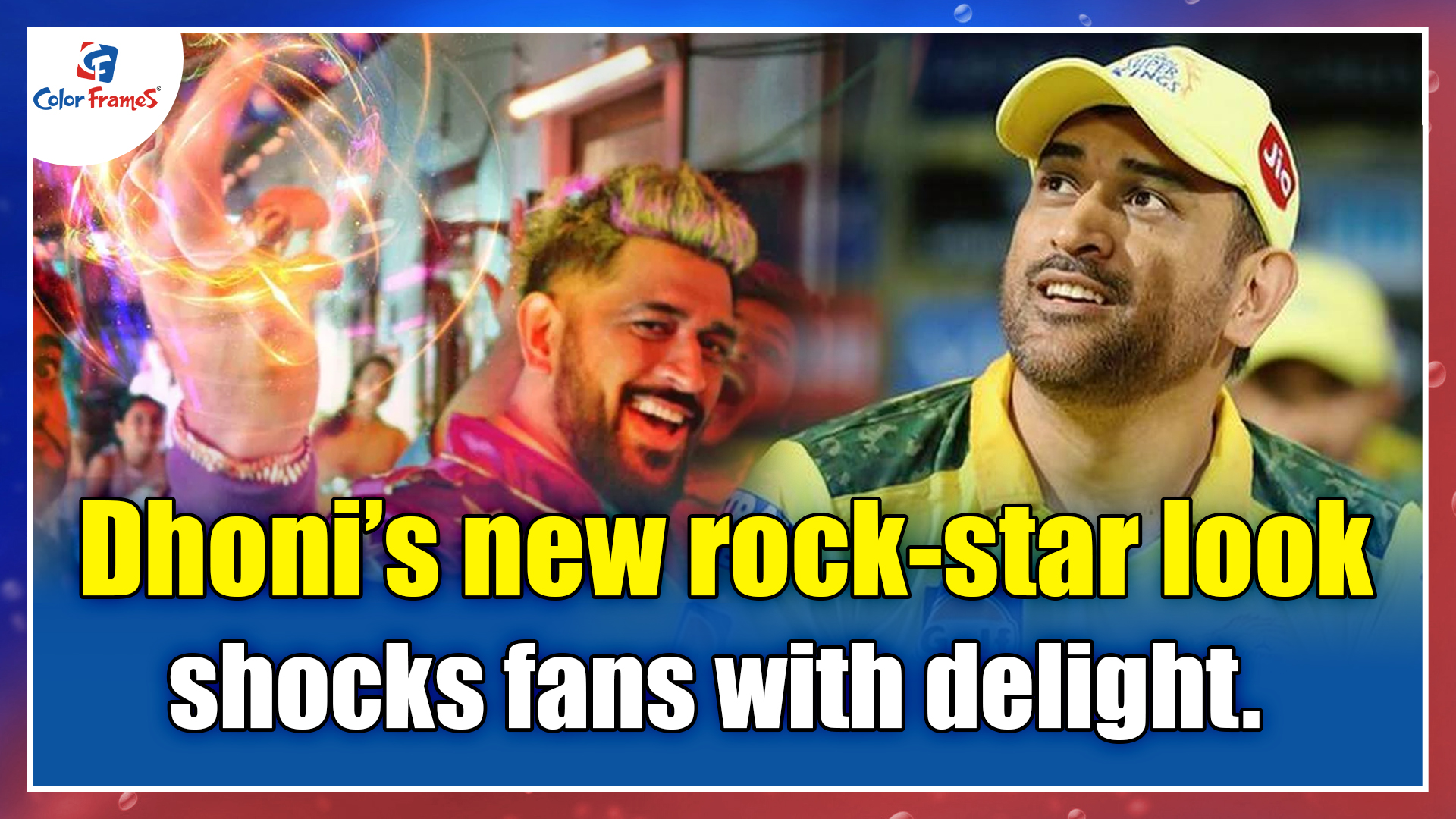 Dhoni's new rock-star look shocks fans with delight.