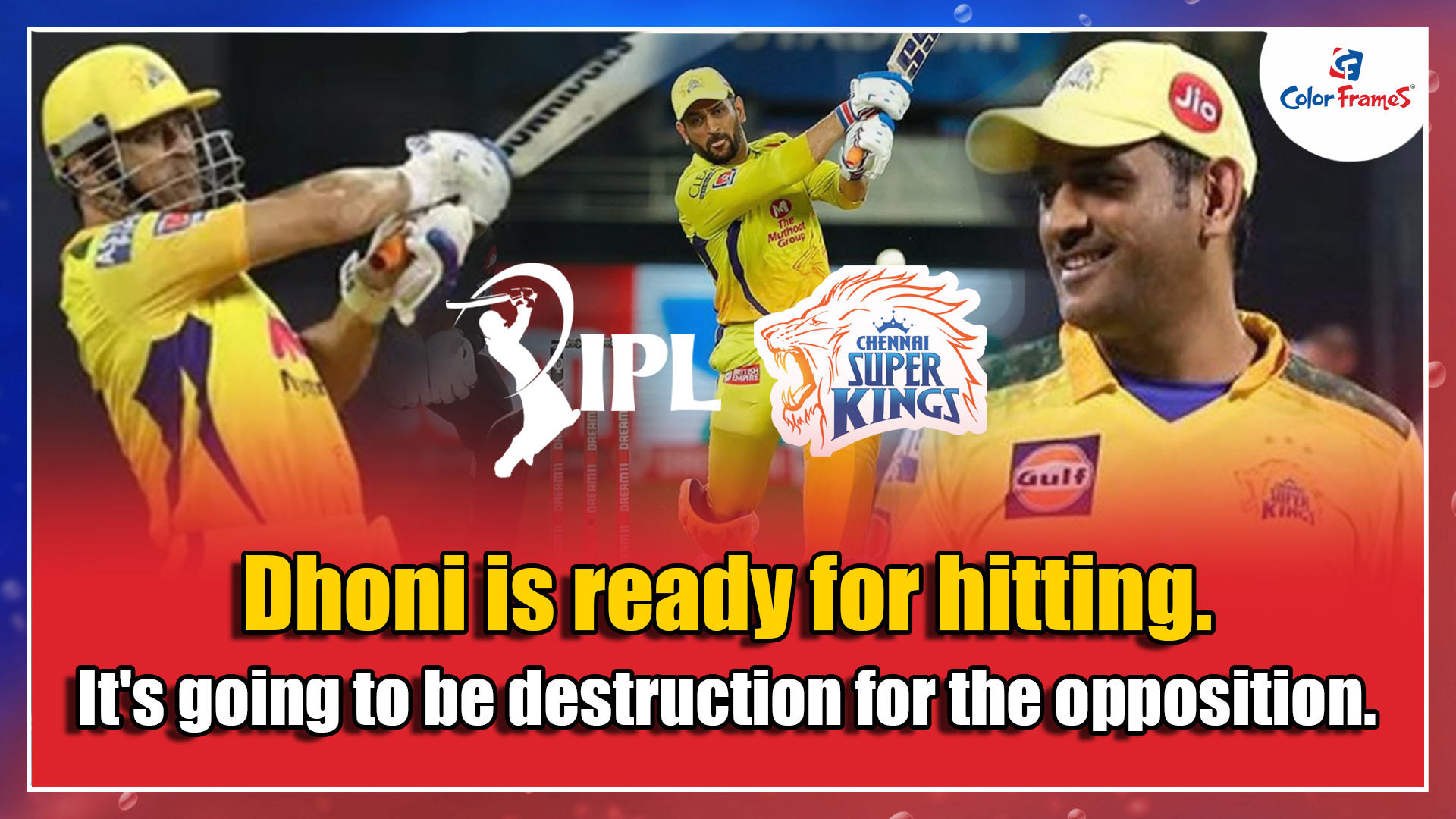 Dhoni is ready for hitting. It's going to be destruction for the opposition.