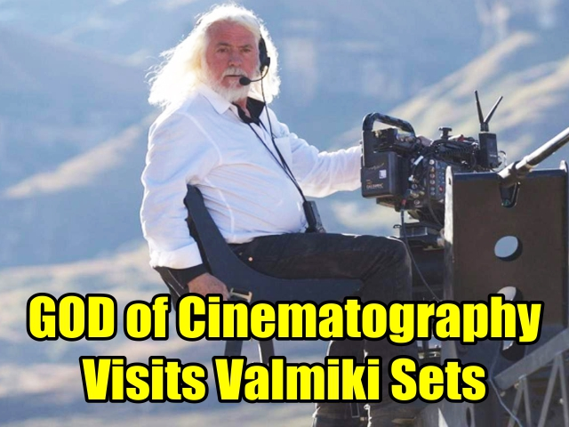 Hollywood cinematographer Robert Richardson surprises the Valmiki sets