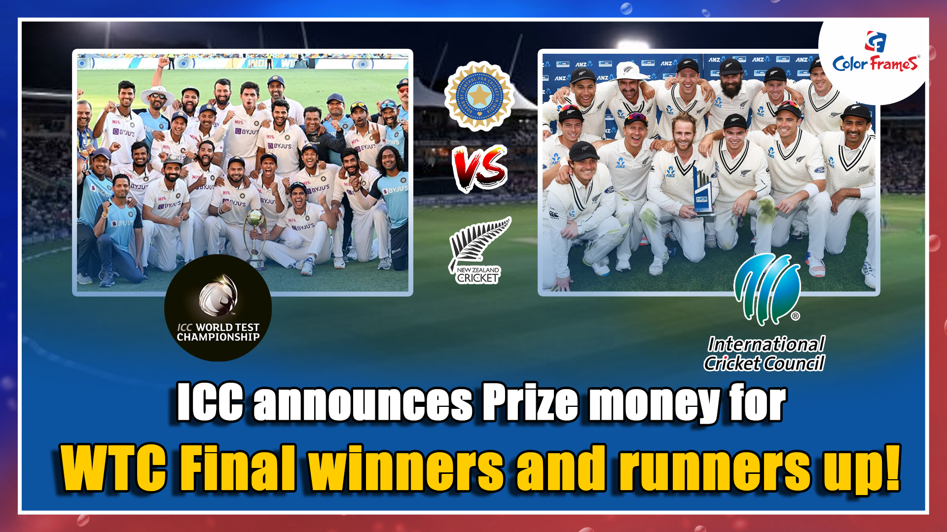 ICC announces Prize money for WTC Final winners and runners up!