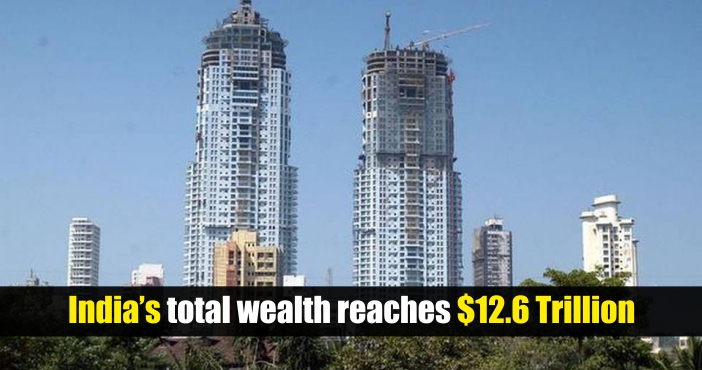 Total Wealth in India  Touches $12.6 Trillions