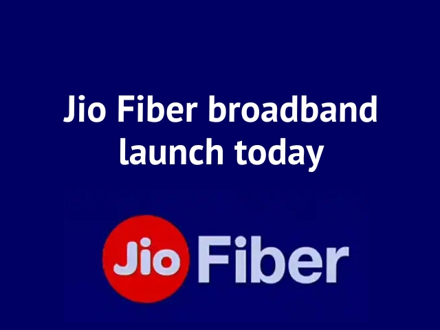 Jio Fiber broadband launch today!