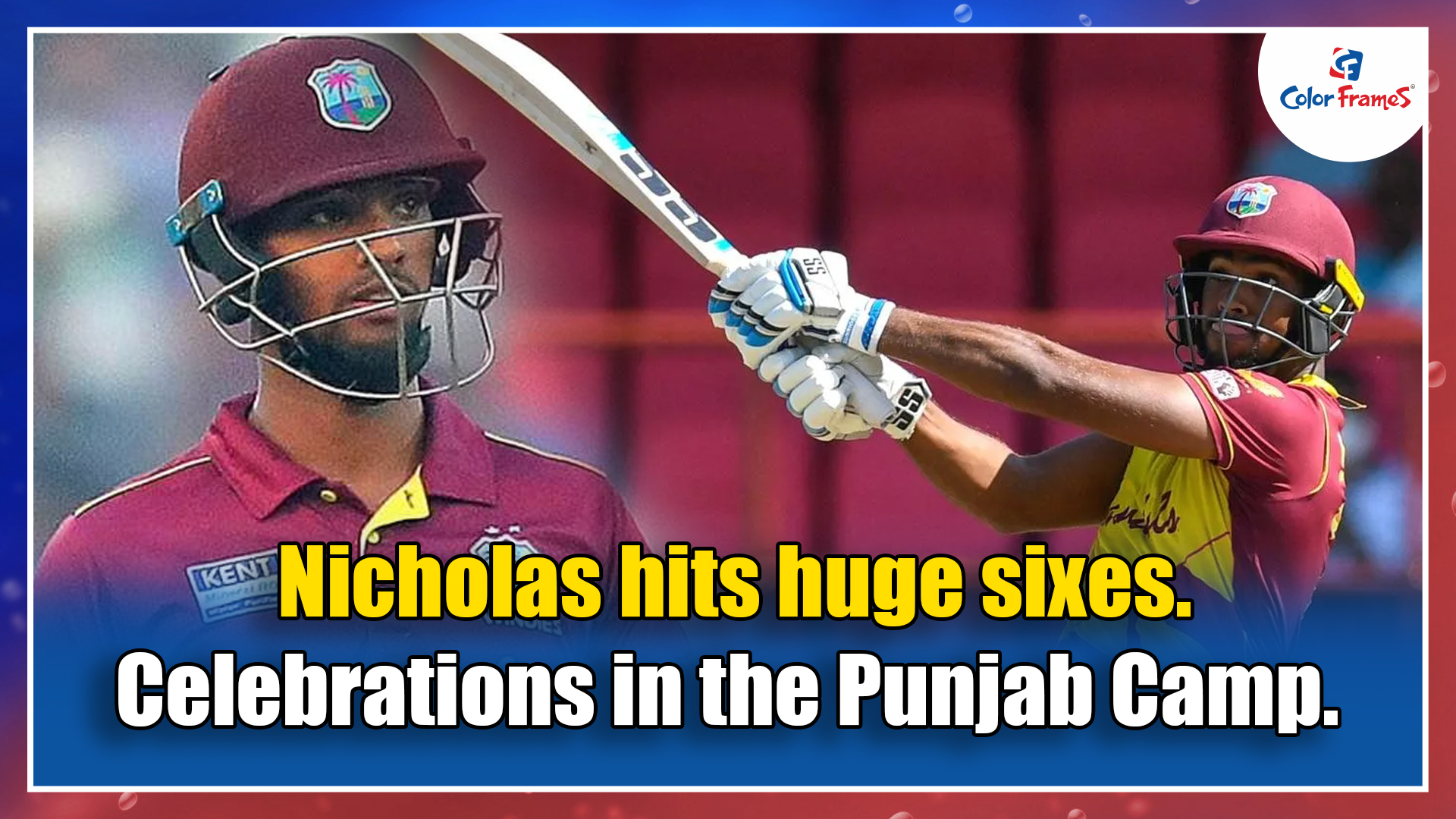 Nicholas hits huge sixes. Celebrations in the Punjab Camp.
