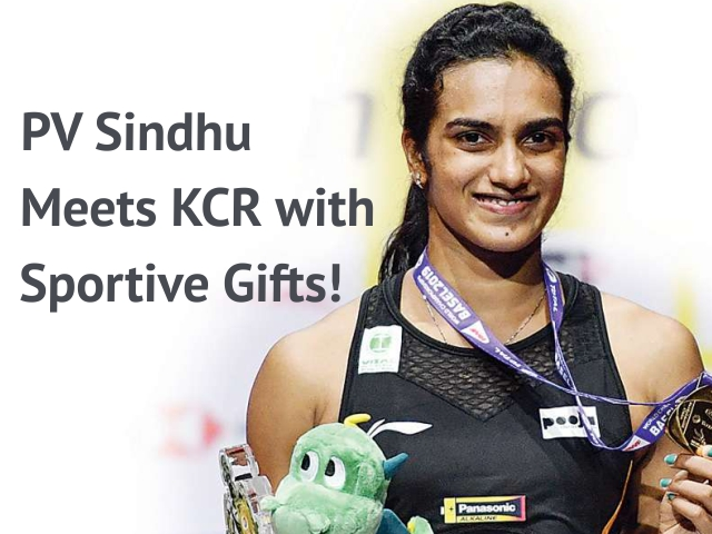 PV Sindhu Meets KCR with Sportive Gifts!
