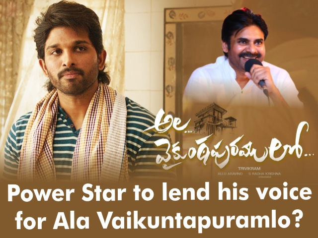 Power Star to lend his voice for Ala Vaikuntapuramlo?
