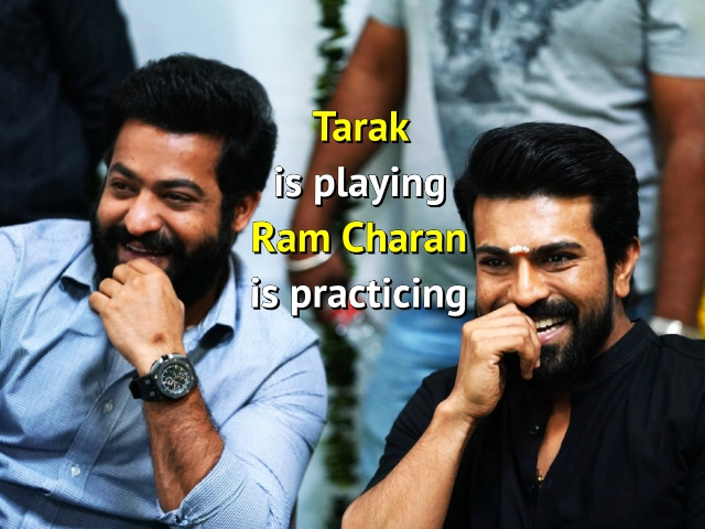 RRR News: Tarak is playing Ram Charan is practicing