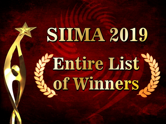 SIIMA 2019: Entire List of Winners