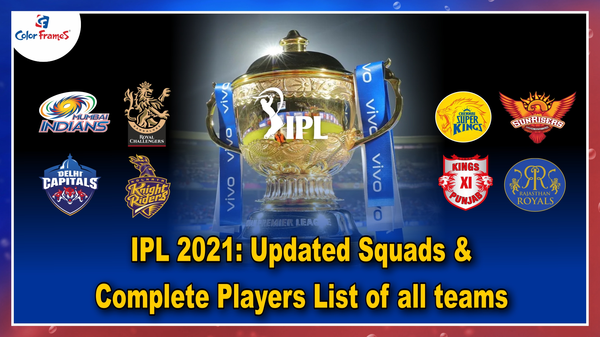 IPL 2021: Updated Squads & Complete Players List of all teams