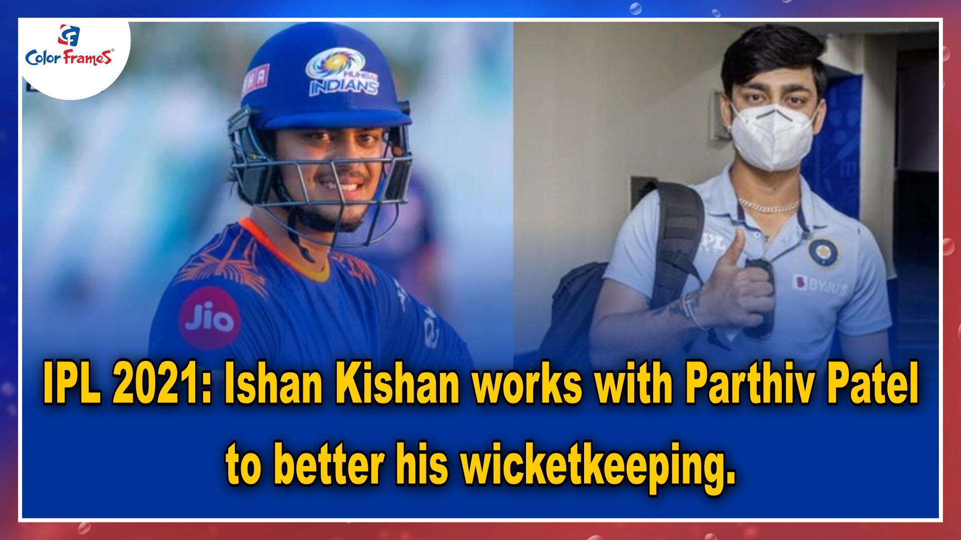 IPL 2021: Ishan Kishan works with Parthiv Patel to better his wicketkeeping.
