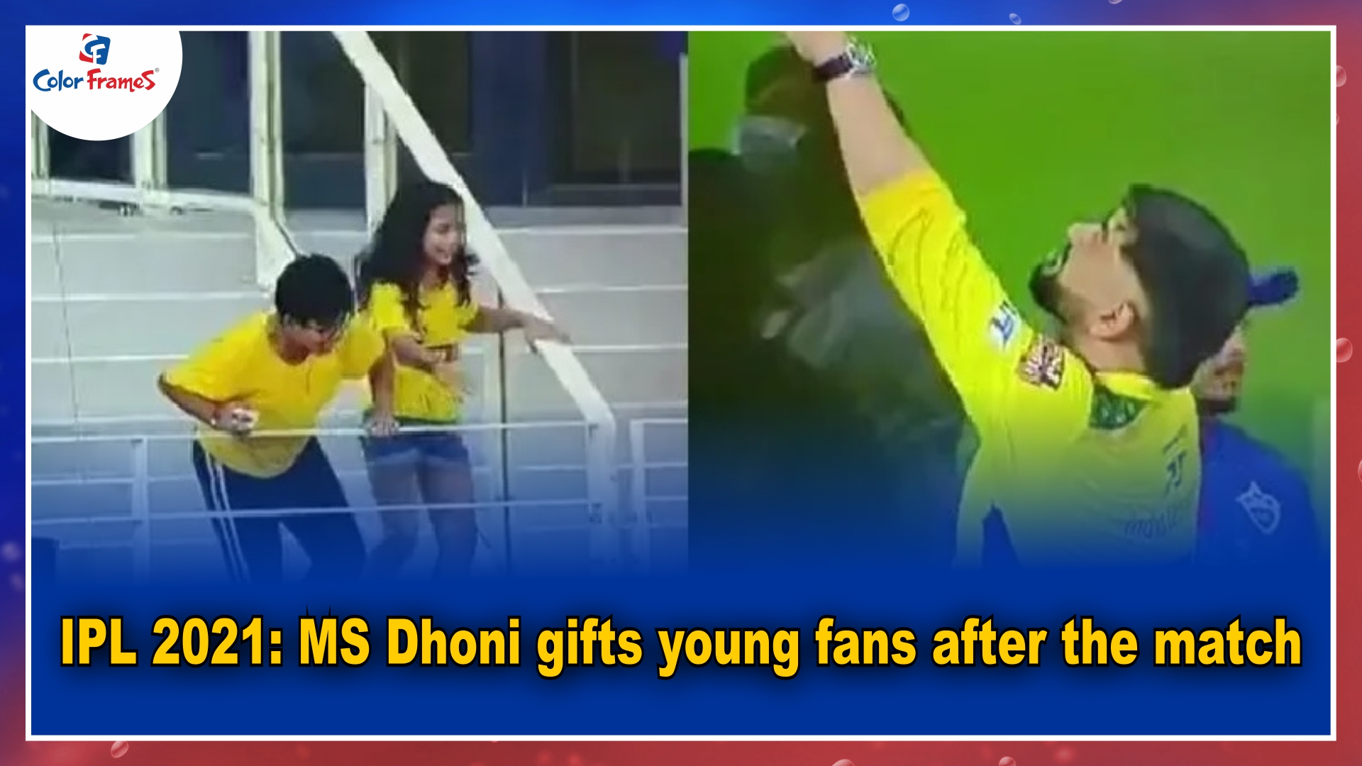 IPL 2021: MS Dhoni gifts young fans after the match