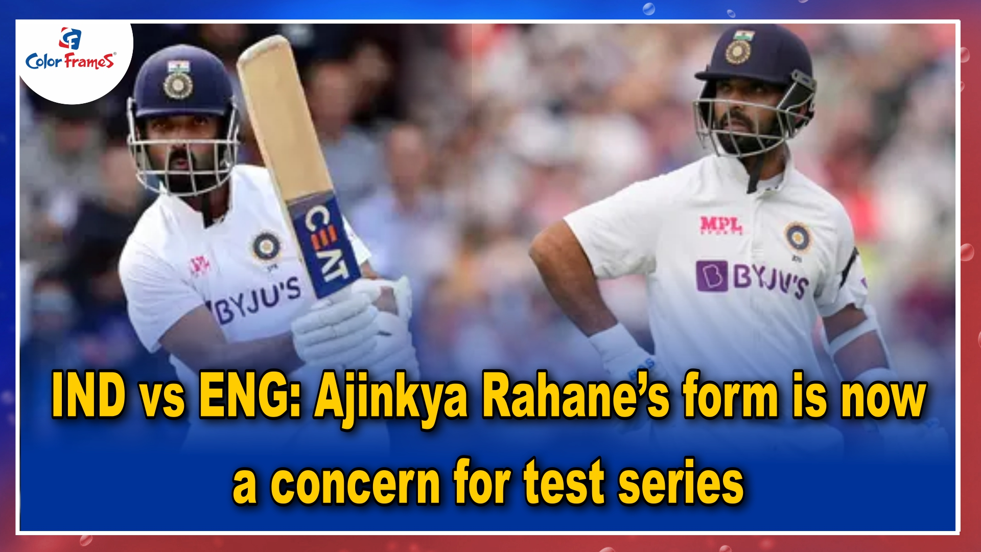 IND vs ENG: Ajinkya Rahane's form is now a concern for test series