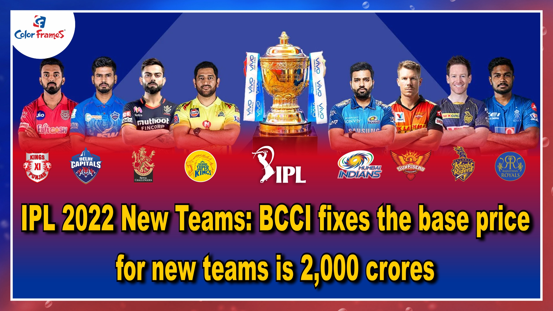 IPL 2022 New Teams: BCCI fixes the base price for new teams is 2,000 crores
