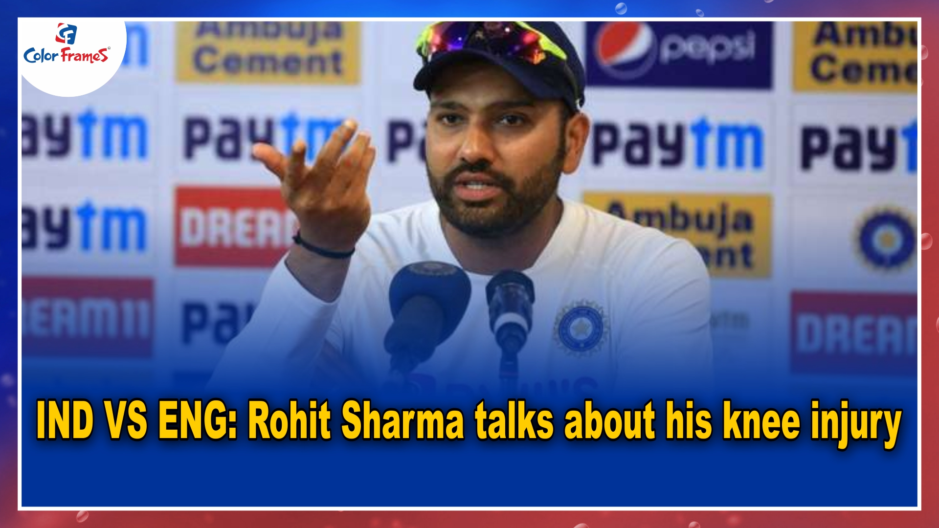 IND VS ENG: Rohit Sharma talks about his knee injury.