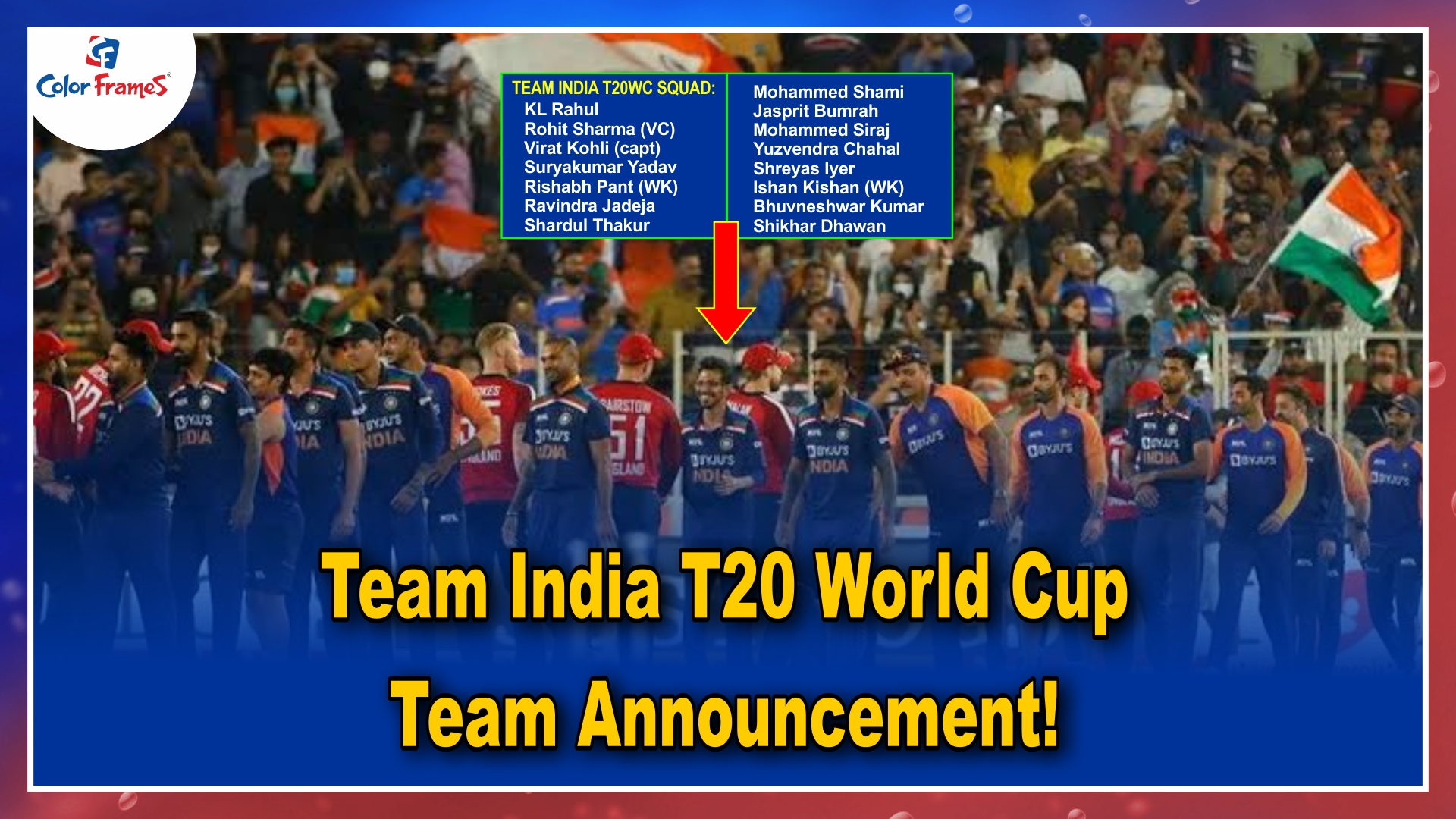 Big Breaking: Team India T20 World Cup Team Announcement!