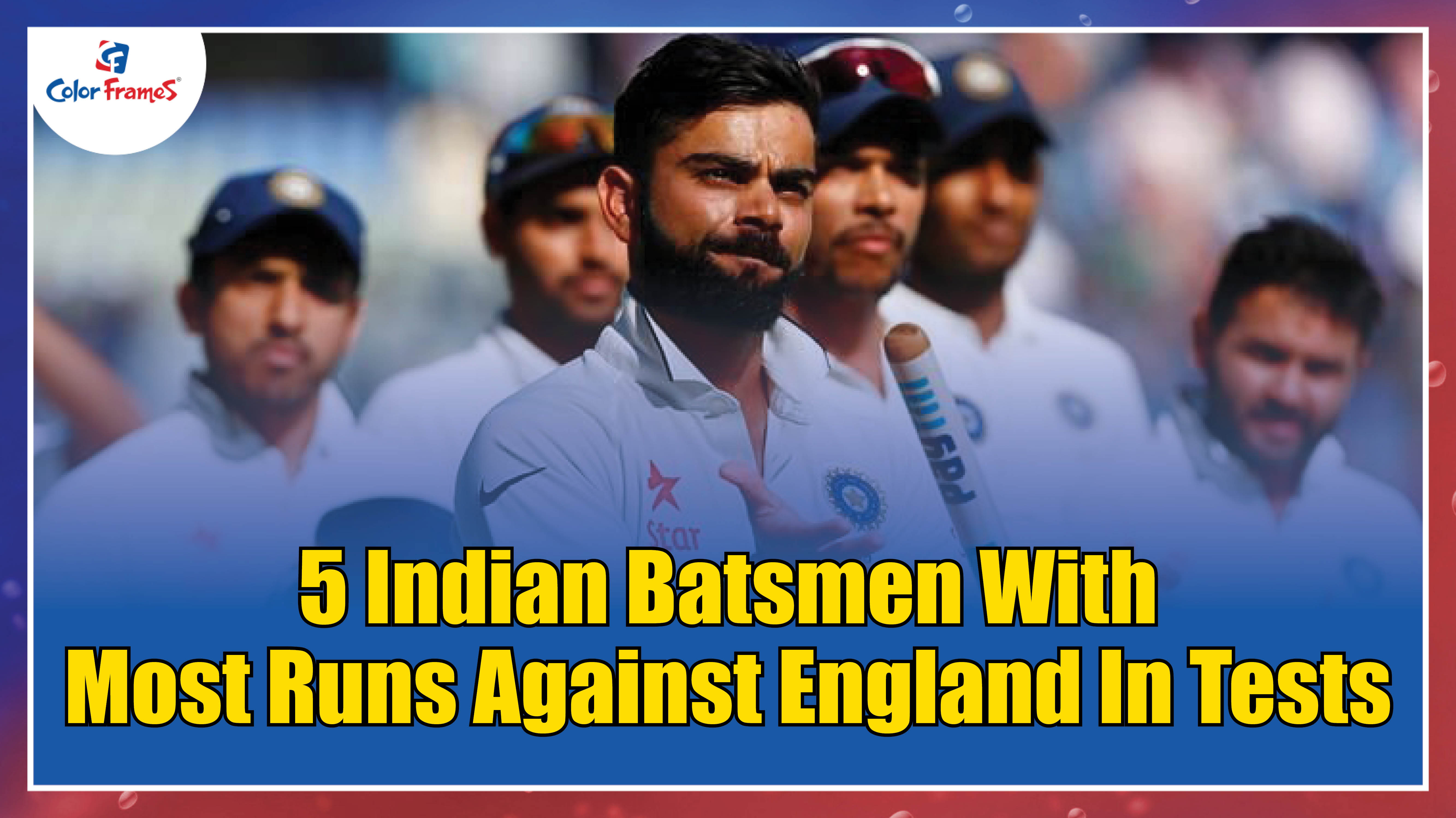 5 Indian Batsmen with Most Runs against England in Tests!