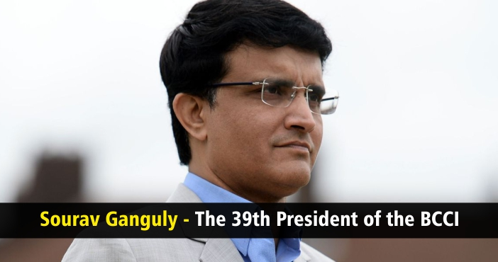 Sourav Ganguly - The 39th President of the BCCI