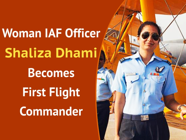 Woman IAF Officer Shaliza Dhami Becomes First Flight Commander