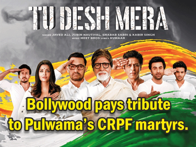 Bollywood pays tribute to Pulwama's CRPF martyrs