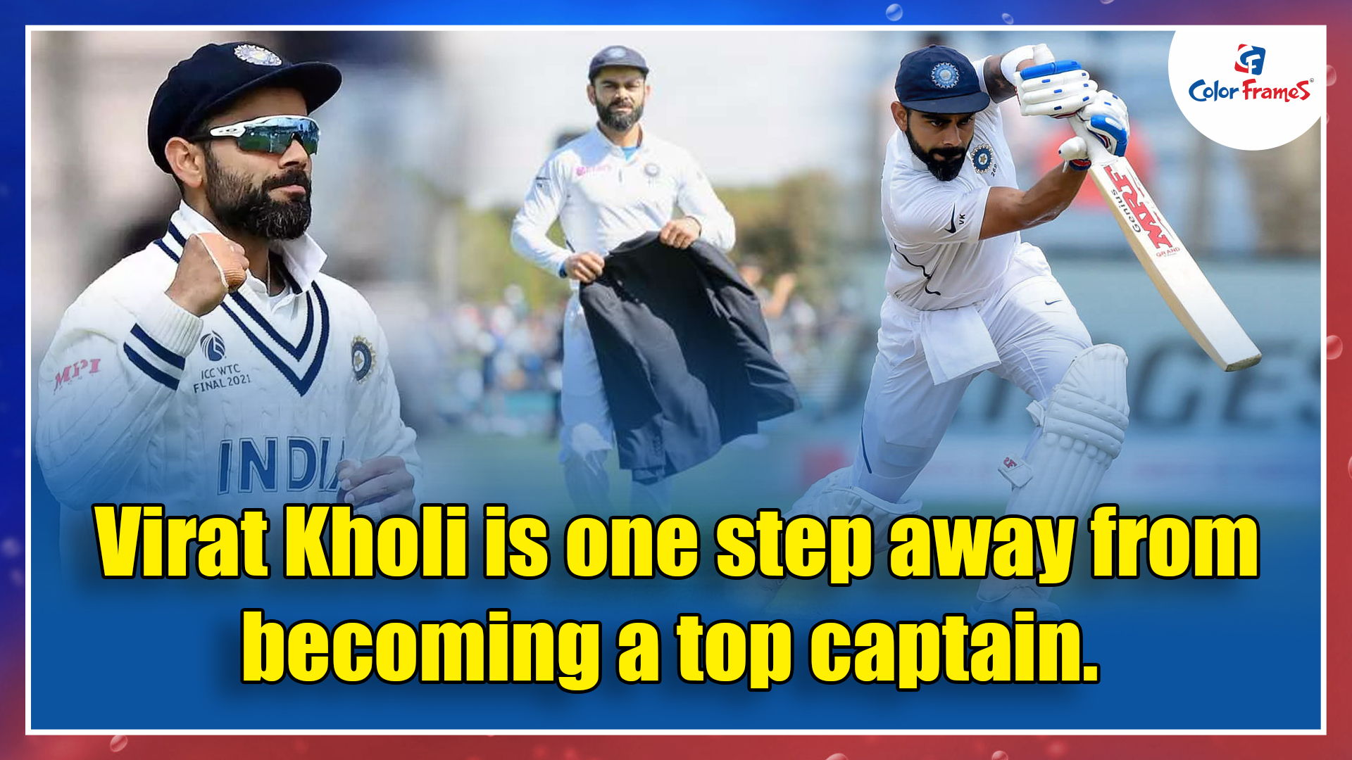 Virat Kholi is one step away from becoming a top captain.