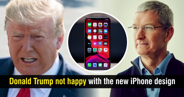 Donald Trump not Happy with the New iPhone Design