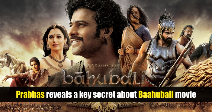 Prabhas reveals a key secret about Baahubali