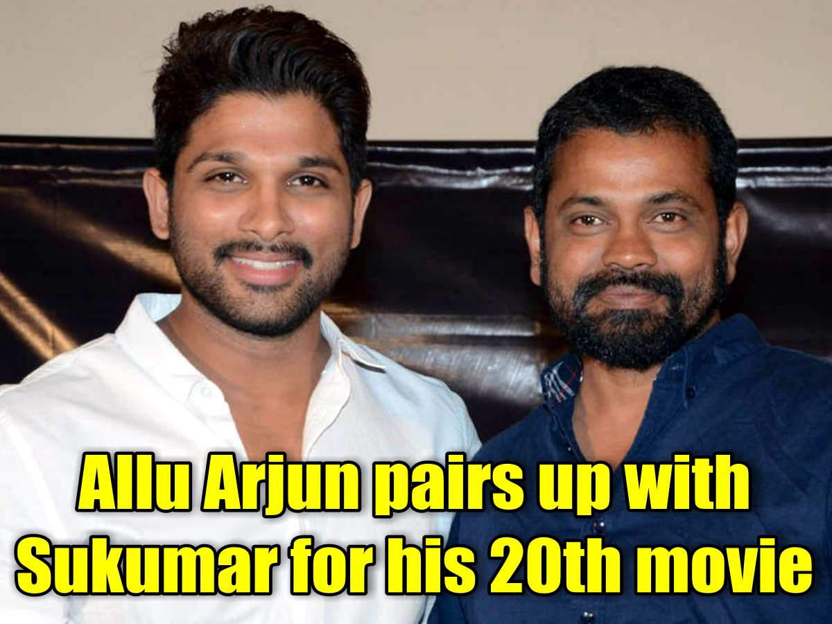Allu Arjun pairs up with Sukumar for his 20th movie.