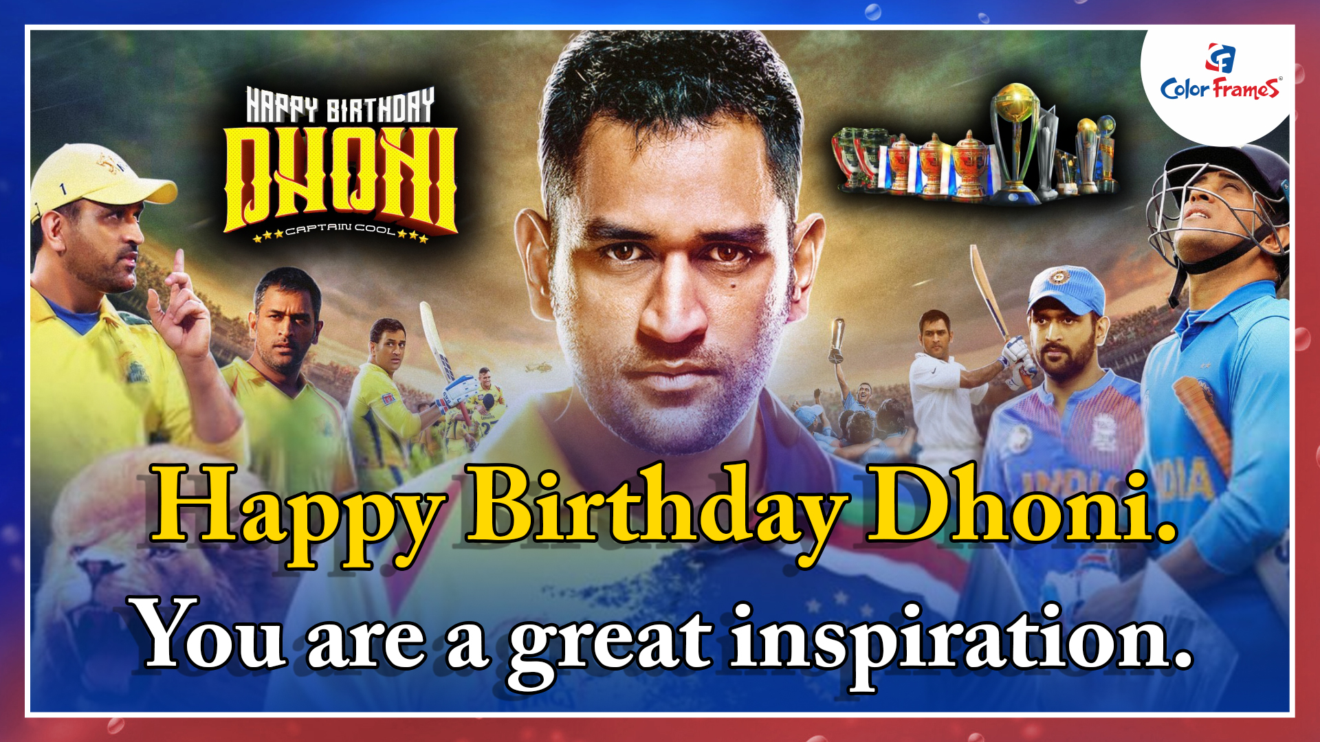 Happy Birthday Dhoni. You are a great inspiration.