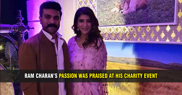 Ram Charan's passion was praised at his charity event