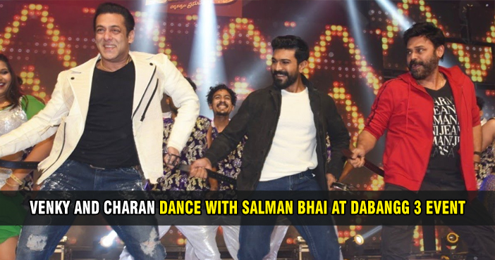 Venky and Charan dance with Salman bhai at Dabangg 3 event